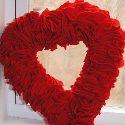 Valentine's Day DIY Heart Wreath