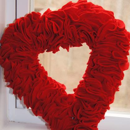 Valentine's Day DIY Heart Wreath