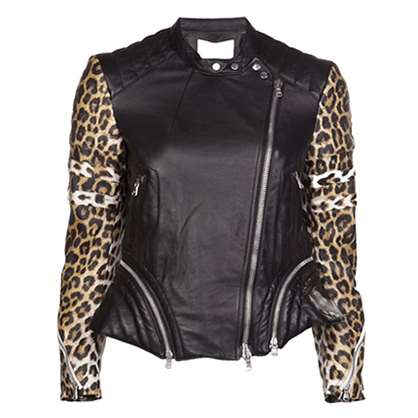 3.1 Phillip Lim Leather and Leopard Jacket
