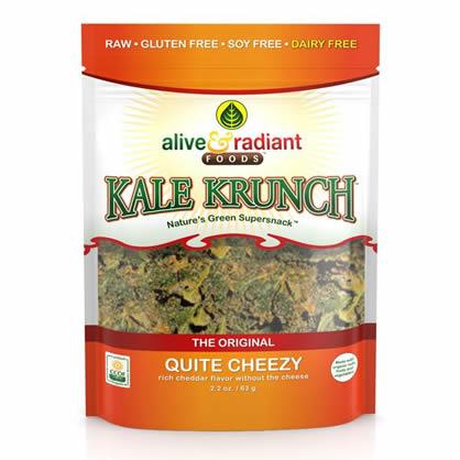 Best Vegan Snacks: Quite Cheezy Kale Krunch