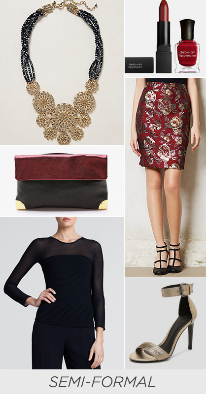 Holiday Style Last Minute Semi Formal