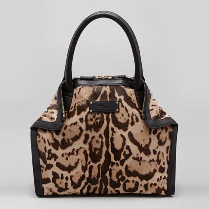 McQueen Leopard De-Manta Tote