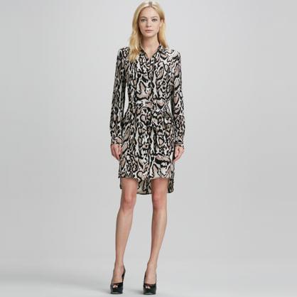 DVF Leopard Shirtdress