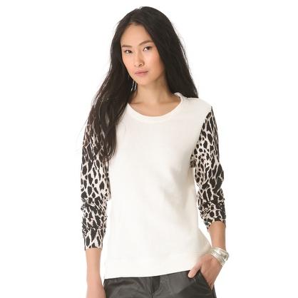 Leopard Sleeve Sweater