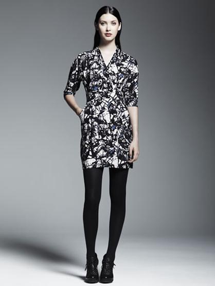 Catherine Malandrino for Kohl's Print Wrap Dress