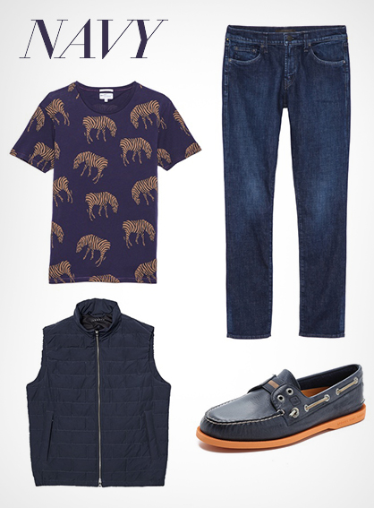 Menswear Navy Blue Trend
