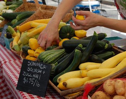 Shopping at the Farmer's Market