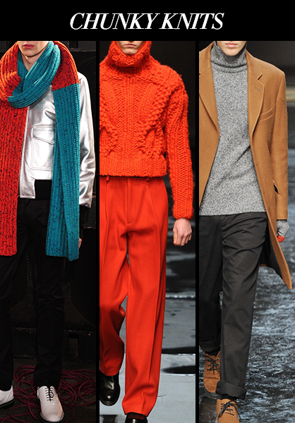 Menswear Fall 2014 Chunky Knits Fabric Trends