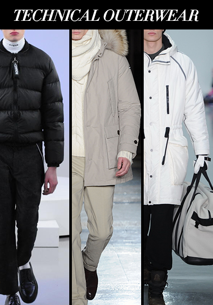 Menswear Fall 2014 Technical Outerwear Fabric Trends