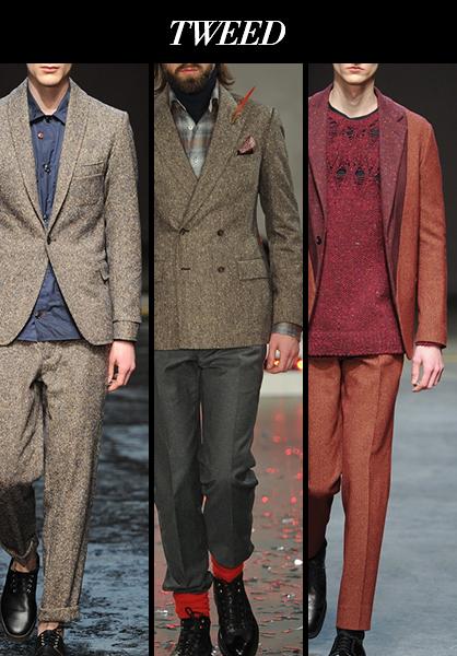 Menswear Fall 2014 Tweed Fabric Trends