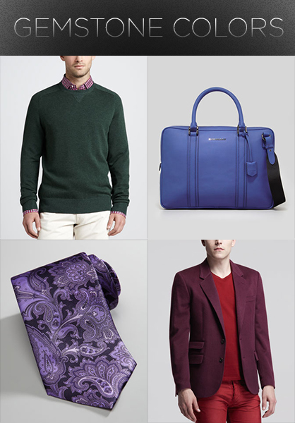 Men's Fall 2013 Trends: Gemstone Colors