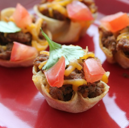 Super Bowl Party Appetizers: Mini Taco Cups