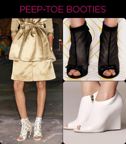 Resort 2014 Footwear Trends: Peep-Toe Booties