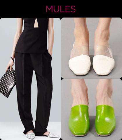 Resort 2014 Footwear Trends: Mules