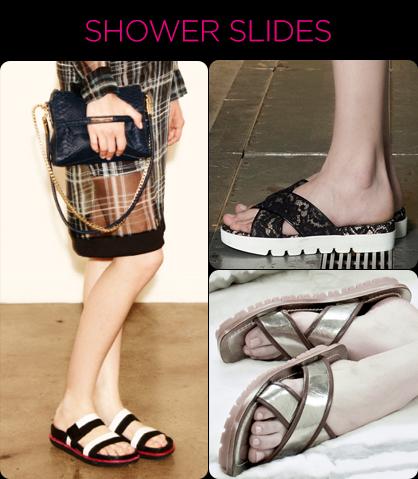 Resort 2014 Footwear Trends: Shower Slides