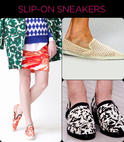 Resort 2014 Footwear Trends: Slip-On Sneakers