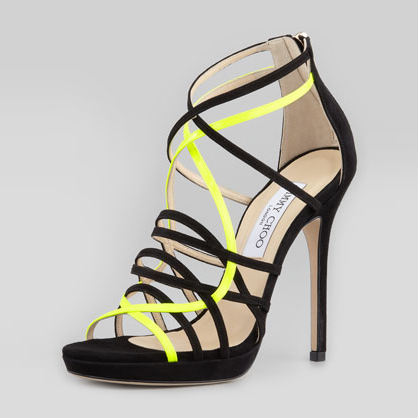 Jimmy Choo Neon Strappy Sandals