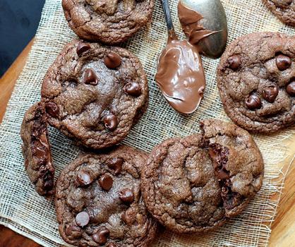 Dessert Recipe: Chocolate Nutella Cookies