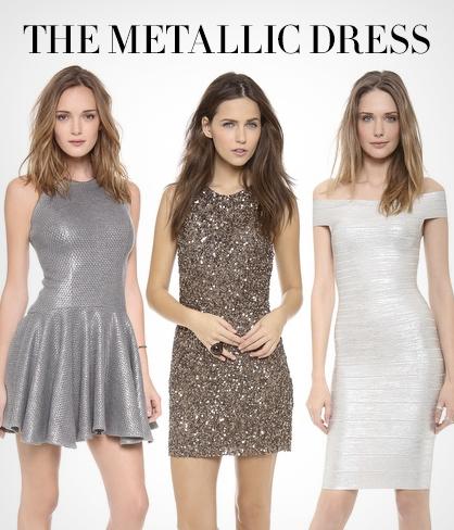 NYE Metallic Dress