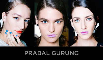 NYFW 2013 Beauty Prabal Gurung