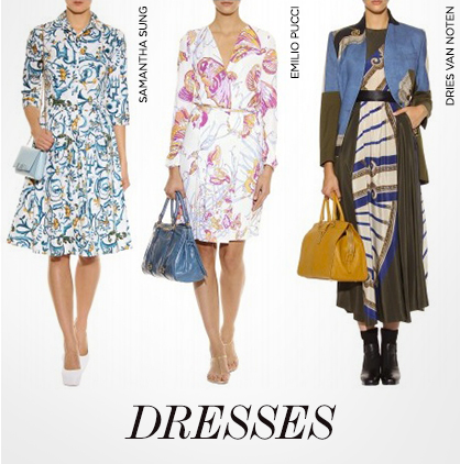 Oriental Print Dresses