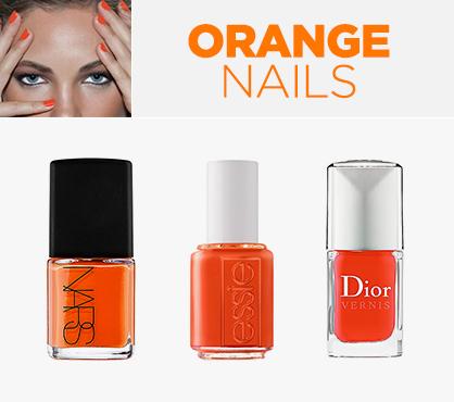 Awesome Orange Beauty Nails