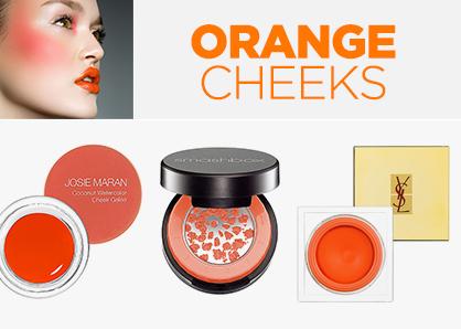 Orange beauty: blush and bronzers
