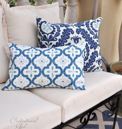 Spring DIY: Outdoor Pillow Covers