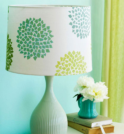 Spring DIY: Painted Lampshade