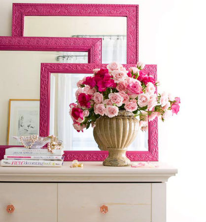 Spring DIY: Painted Mirrors