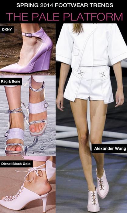 NYFW S/S 14 Footwear Trends: Pale Platforms