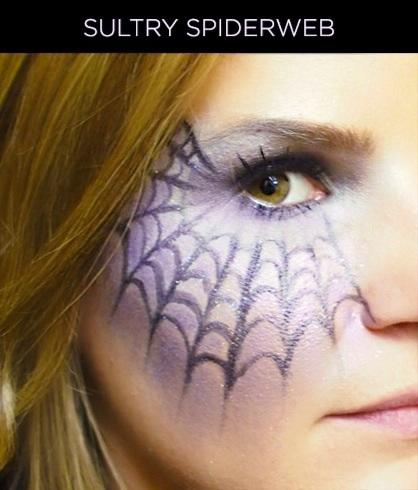 Spiderweb Halloween Makeup