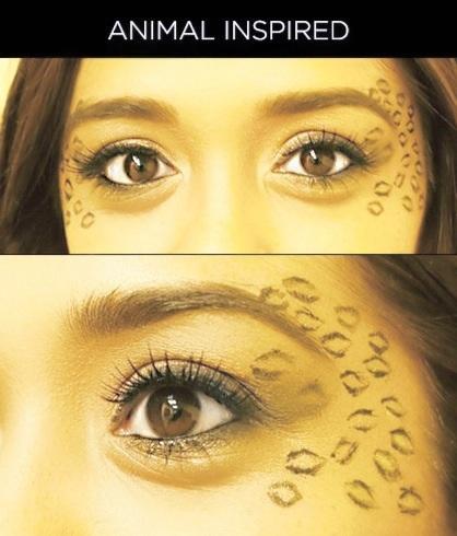 Cheetah/Leopard Halloween Eye Makeup