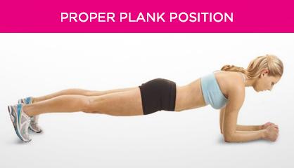 Proper Plank Position