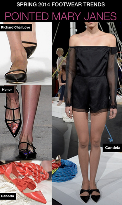 NYFW S/S 14 Footwear Trends: Pointed Mary Janes