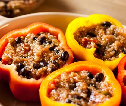 Quinoa Stuffed Bell Pepper Recipe