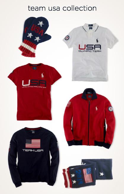 Ralph Lauren Team USA Olympics Red White Blue Uniforms