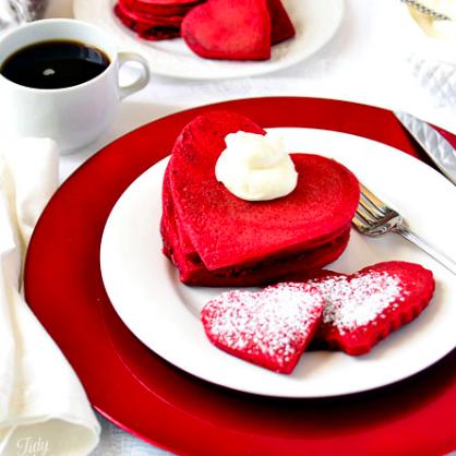 Valentine's Day Breakfast: Red Velvet Pancakes