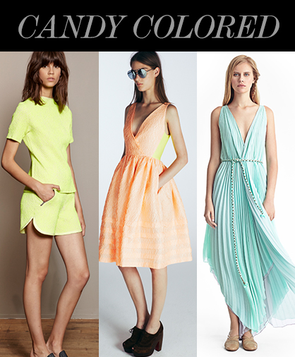 Resort 2014 Color Trends: Candy Colored