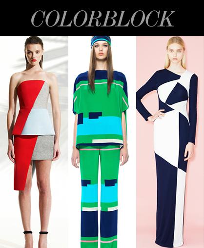 Resort 2014 Color Trends: Colorblock