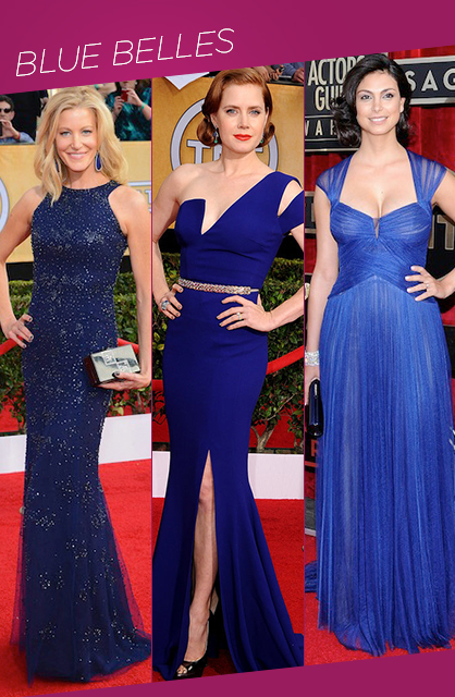 sag awards blue belles red carpet trends