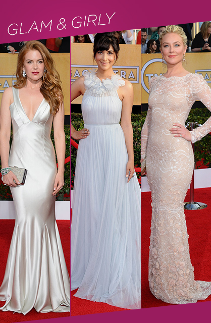 Sag Awards Glam and Girly red carpet trends