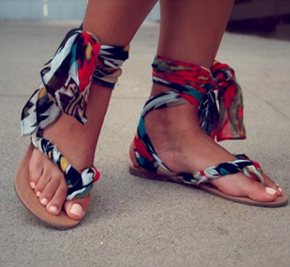 Summer DIY: Scarf Wrap Sandal