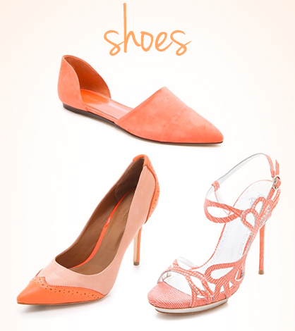 Coral Color Shoes what color shoes to wear with a coral dress