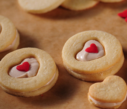 your sweetheart how much you care with sugar heart sandwich cookies ...