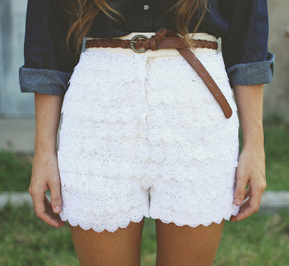 Summer DIYs: Lace Shorts
