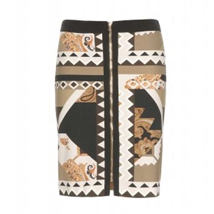 Etro Graphic Zipper Skirt