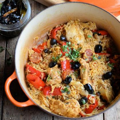 One Pot Wonder: Chicken and Spanish Rice