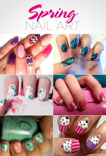 Lux beauty spring nail art ladylux online luxury lifestyle springnailart1361868433g prinsesfo Image collections