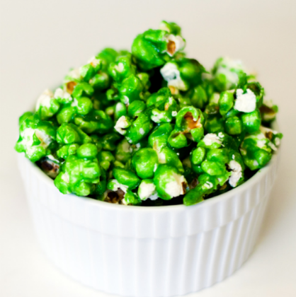 St. Patrick's Day Desserts: Green Candied Popcorn
